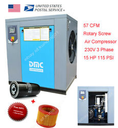 HPDMC Rotary Screw Air Compressor 230V 15HP11KW 150Psi 3Phase NPT Outlet G34