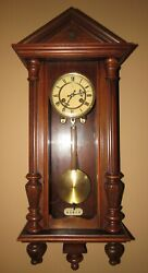 Antique Junghans Vienna Wall Clock 8-day TimeStrike and Key-wind