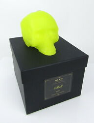 Halloween Sculpted Skull Green Candle In Black Gift Box D. L. amp; Co. NEW $39.95