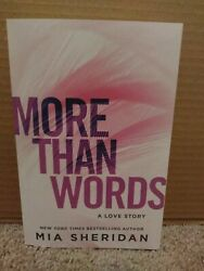More Than Words by Mia Sheridan (2018 Paperback)