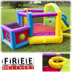 Inflatable Bounce House Slide Bouncer Blower Yard Outdoor Child Kid Playground