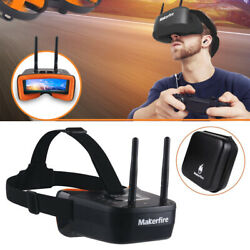 5.8Ghz Mini FPV Goggles 40CH FPV Video Headset Glasses Double RP SMA Antenna NEW $51.69