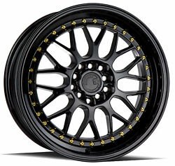 17x8 +35 Aodhan AH02 5x100114.3 Black Rims (Set of 4)