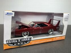 1969 DODGE CHARGER DAYTONA DIE CAST RED 124 BY JADA 96856