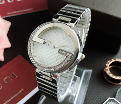 Stainless steel Analog Wristwatch Women's Crystal G Surface Fashion Watch