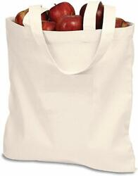 Natural Canvas Tote Bag for Everyday Shopping School or Work