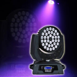 2X360W RGBW Zoom Moving Head Light DMX 36 x10W LED Stage Party Show Wedding Top