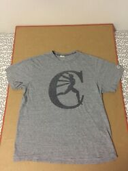 Champion Sportswear Canada shirt retro vtg heather gray running man logo $13.52