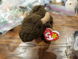 TY Beanie Baby Roam The Buffalo Retired 1998 Tag still attached