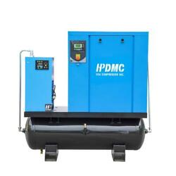 HPDMC 15kw20Hp Rotary Screw Air Compressor WAir Dryer 120Gal Tank 81CFM 3Phase