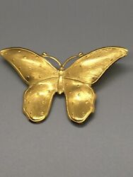 Vintage Pin Brooch Butterfly Gold Tone ~