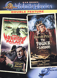 Midnite Movies - The Haunted Palace & Tower of London  Brand NEW DVD  Vinc Price