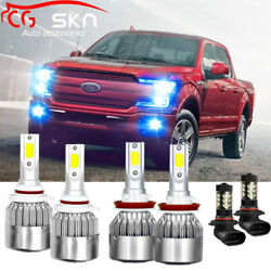 8000K Combo LED Headlight Bulbs Fog Light H11 9005 9145 for Ford F-150 2015-2019