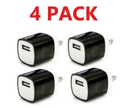 4x Black 1A USB Power Adapter AC Home Wall Charger Plug FOR iPhone Samsung LG $6.99