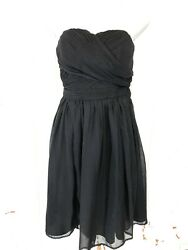TEVOLIO Women's Little Black Strapless Formal Prom Lined Ruched Dress ~sz 10 $26.84