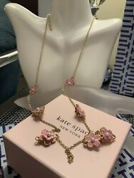 Kate Spade Mini Pink Flowers With Pearly Insides Double Sided Necklace $22.00