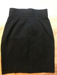 Georges Marciano Pencil Skirt Short Black Amazing Classic 1990#x27;s Wool Size 4 $4.99