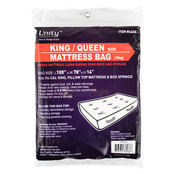 Durable Plastic King/Queen Mattress Bag Dust Water 2 Mil Heavy Duty Storage $10.95