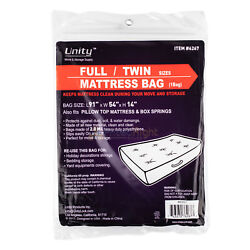 Durable Plastic Full/Twin Mattress Cover Dust Water 2 Mil Heavy Duty Storage Bag $8.95