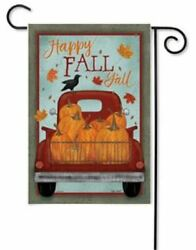 Happy Fall Y'all Glitter Garden Flag Patchwork Glitter Double Sided 12.5