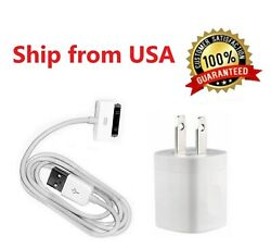 Home Wall AC Charger 30 pin Data Sync USB Cable Cord for iPhone 3G 4 ipod Nano $5.49