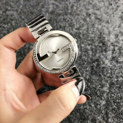 New Stainless steel Analog Wristwatch Women's Crystal G Surface Fashion Watch