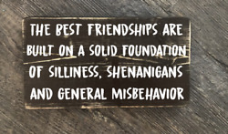 The best Friendships are built Wood hanging sign rustic home decore cottage gift $12.95