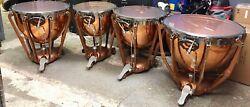 NICE SET OF 4 LUDWIG COPPER BOWL TIMPANI IN READY TO PLAY CONDITION