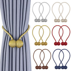 2Pcs Magnetic Ball Curtain Buckle Holder Tieback Tie Backs Clips for Home Window $4.99