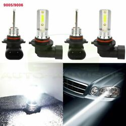 9005+9006 Combo LED Headlight Low Beam DRL lights 6500K White 200W 4000LM Kit