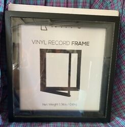 KAIU Vinyl Record Frame - Solid Wood with Clear Acrylic to Display Your Album-