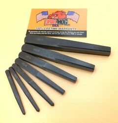 Drill Hog® Square Easy Out Set Screw Extractor Straight Lifetime Warranty 7 Pc $39.99