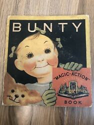 Vintage BUNTY MAGIC-ACTION BOOK Pop-Up 1935 Collector's Item RARE Good Condition