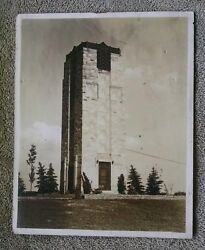Unknown Undated Stone Tower brick rock castle fortress fort wall trees landscape $10.00