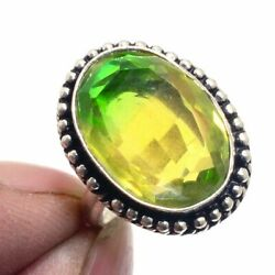 Bi-Color Tourmaline 925 Sterling Silver Jewelry Ring Size-7.5 9241