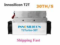 New Innosilicon T2T 30T With PSU Bitcoin BTC BCH Miner Better Than Antminer S9