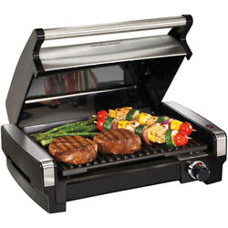 Electric Indoor Grill Stainless Steel Smokeless Portable BBQ Countertop Cooking $87.77