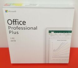 Microsoft Office MS Office 2019 Professional Plus Retail for 1 PC DVD Included