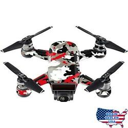 MightySkins Skin Compatible with DJI Spark Mini - Red Camo  Protective Durable