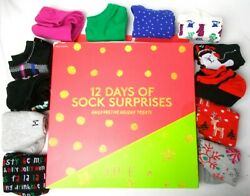 Holiday Women#x27;s No Show Socks Gift Set Hue 12 Pack 12 Days of Surprises One Size $14.95