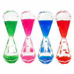 Colorful Diamond Shaped Bubbler Motion Liquid Hourglass Holiday Easter Gifts $5.99