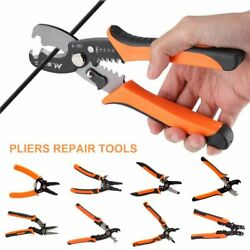 Multifunction Crimping Pliers Cable Wire Stripper Cutter Snap Ring Repair Tools $11.20