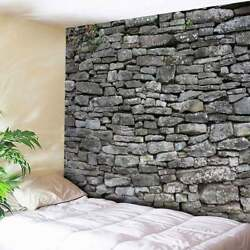 Stone Brick Patterned Tapestry Home Wall Hanging USA Bedspread Tapestries Decor $15.96