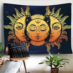 Sun and Moon Mandala Tapestry Wall Hanging Hippie Room Tapestries Wall Decor USA $15.12
