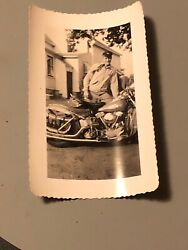 1950's Vintage Motorcycle Photo on Harley Davidson Trucked Out Bags And Outfit