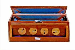 Manual Shruti Box Swar Peti Swarpeti Natural Wood Color Musical Instruments USA $95.95