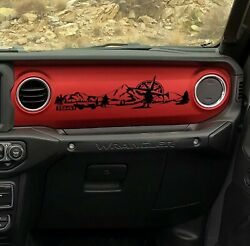 Dashboard Decal for Jeep Wrangler JL JLU JT Mountain Compass 1941 Willys Scenery
