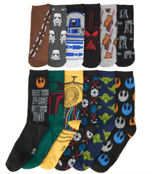 Star Wars Socks Mens 6 12 12 Pairs Crew and No Show Authentic New in Gift Box $31.99
