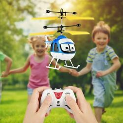 Drone Kids Plane Toy Induction Flying RC Helicopter Cartoon Remote Control NM $10.65