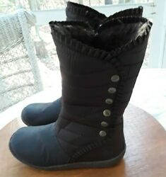 ROCKET DOG GIRLS WOMEN#x27;S BROWN LINED WEATHERPROOF BOOTS SIZE 7.5 M EXCEL COND $16.99